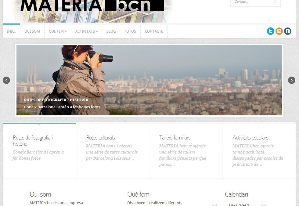 Nova web per a MATÈRIAbcn!