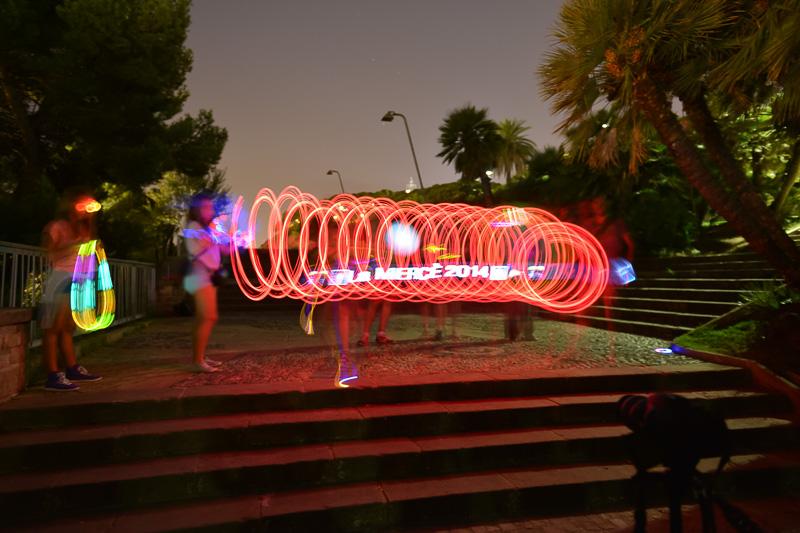 Fotografia de focs artificials a les Festes de la Mercè 2014
