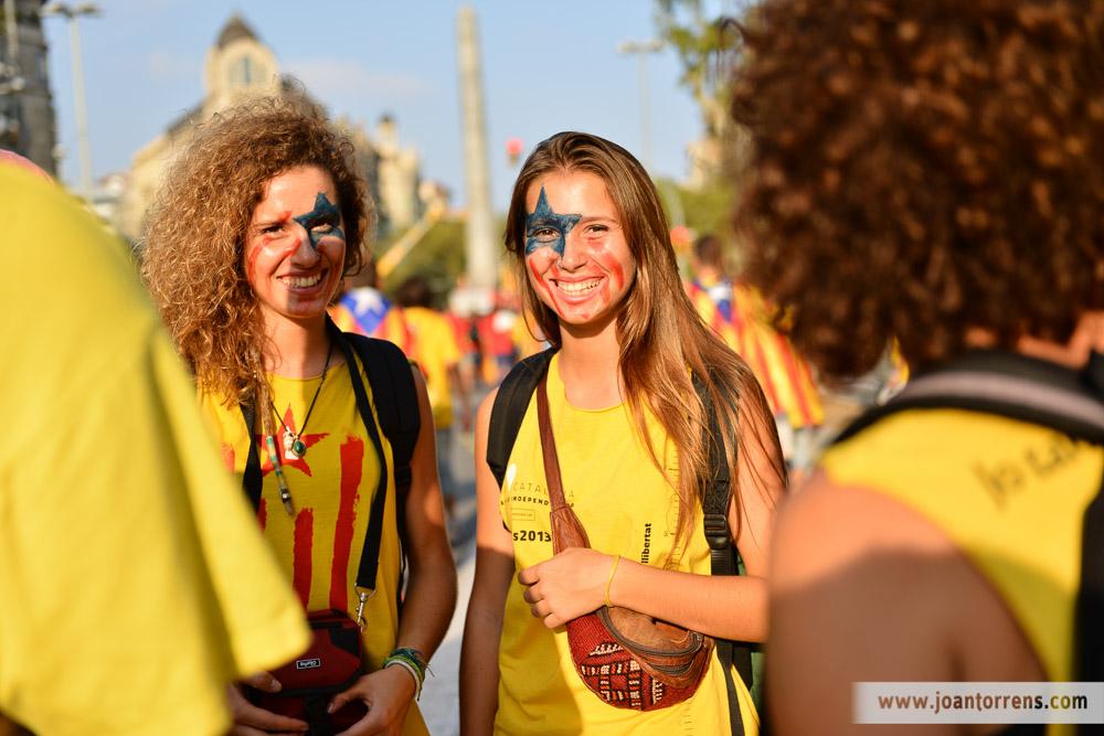 11 de setembre 2014, Via Catalana