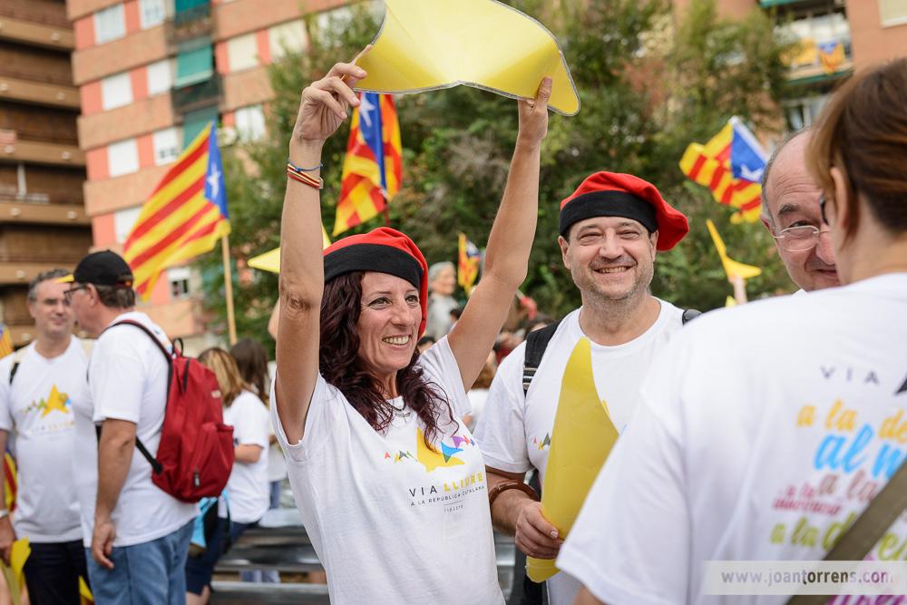 Via Catalana - Barcelona 11 de setembre de 2015