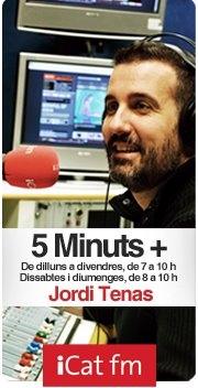 Promoció amb el programa 5 minuts + d'iCat FM
