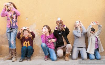 Fotos del taller infantil del 26 de febrer