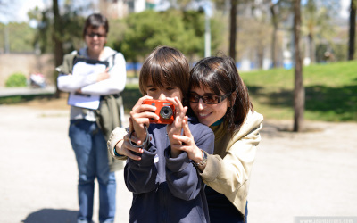 Fotos del taller infantil per la Barceloneta