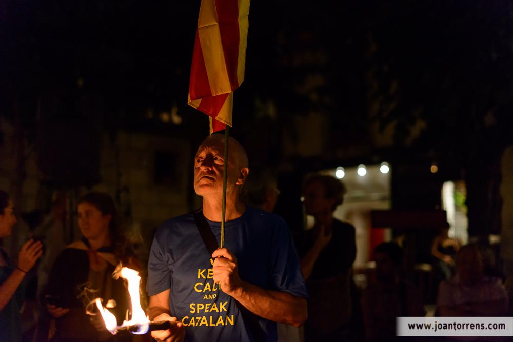 Marxa de torxes per la Diada de Catalunya