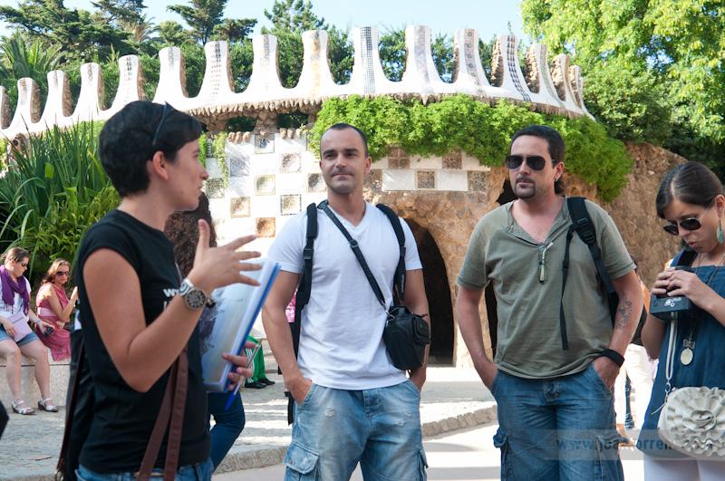 MATERIA bcn i JOAN TORRENS, passejada Parc Güell