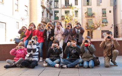 Fotos del taller infantil de fotografia i història