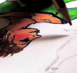 Video de la Festa del Dibuix amb l'iPhone 4