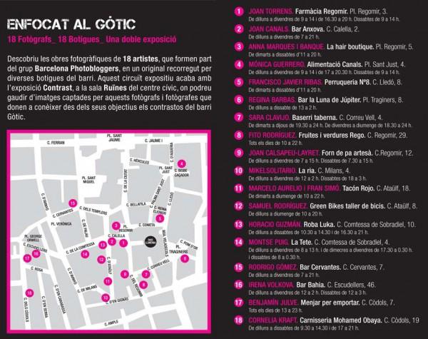 Enfocat al Gòtic - Pati Llimona - Programa d'exposicions